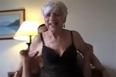 Perverser Omafick mit einer Granny in Nylons
