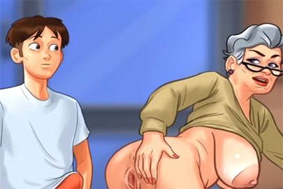 Von hinten ficken im Anime Porno mit Granny